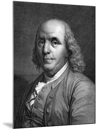 Engraved Portrait of Benjamin Franklin--Mounted Giclee Print
