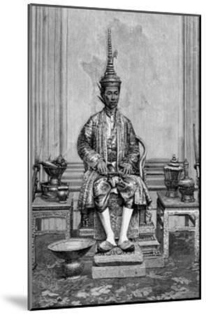 King of Siam on Throne--Mounted Giclee Print