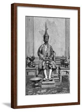 King of Siam on Throne--Framed Giclee Print