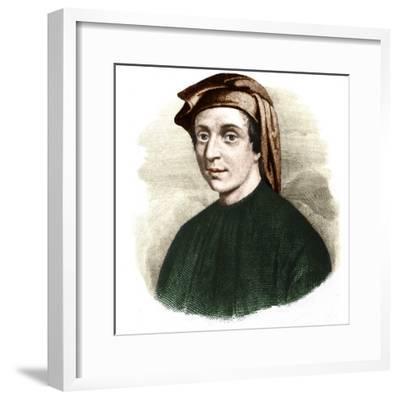 Portrait of Leonardo Fibonacci-Stefano Bianchetti-Framed Giclee Print