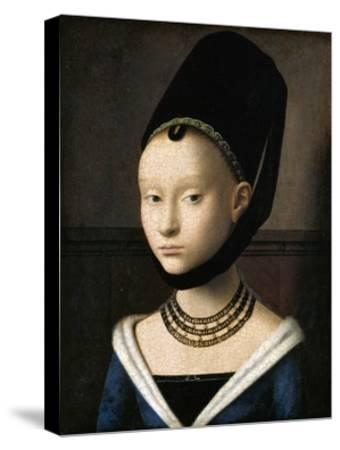Portrait of a Young Woman by Petrus Christus--Stretched Canvas Print