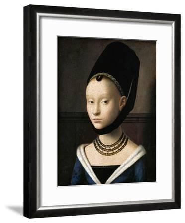 Portrait of a Young Woman by Petrus Christus--Framed Premium Giclee Print