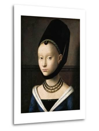 Portrait of a Young Woman by Petrus Christus--Metal Print