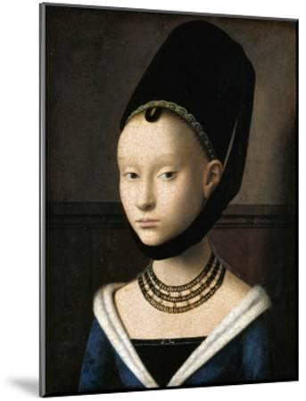 Portrait of a Young Woman by Petrus Christus--Mounted Giclee Print