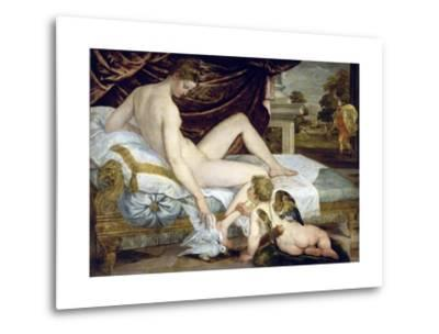Venus and Love by Lambert Sustris--Metal Print