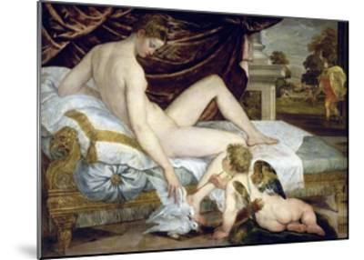 Venus and Love by Lambert Sustris--Mounted Giclee Print