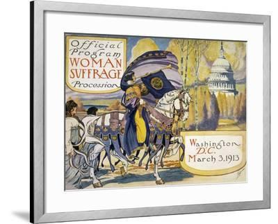 Official Program Woman Suffrage Procession--Framed Giclee Print