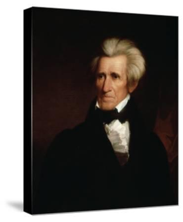 Portrait of Andrew Jackson--Stretched Canvas Print