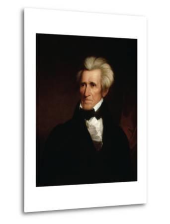 Portrait of Andrew Jackson--Metal Print