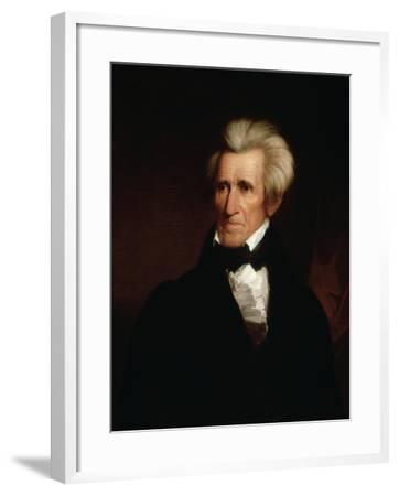 Portrait of Andrew Jackson--Framed Giclee Print