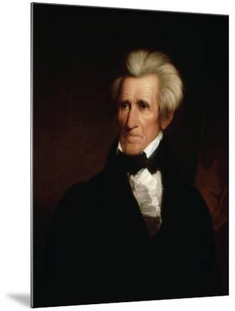 Portrait of Andrew Jackson--Mounted Giclee Print