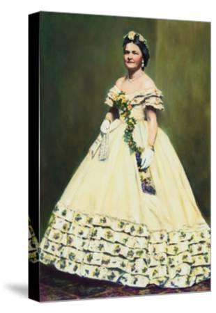 Color Illustration of Mary Todd Lincoln--Stretched Canvas Print