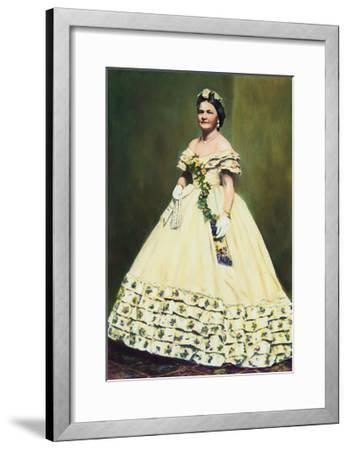Color Illustration of Mary Todd Lincoln--Framed Giclee Print