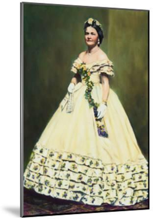 Color Illustration of Mary Todd Lincoln--Mounted Giclee Print