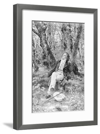 Beethoven Lounging in the Forest--Framed Giclee Print