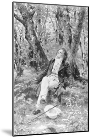 Beethoven Lounging in the Forest--Mounted Giclee Print