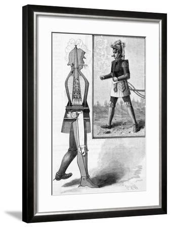 Walking Steam Robot Illustration--Framed Giclee Print