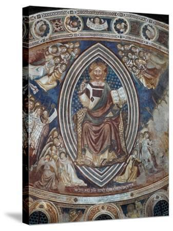 Christ with Angels and Saints--Stretched Canvas Print