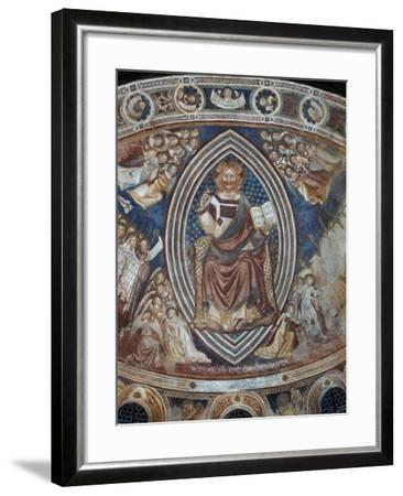 Christ with Angels and Saints--Framed Giclee Print