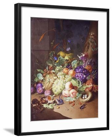 Plaque with Still Life--Framed Giclee Print