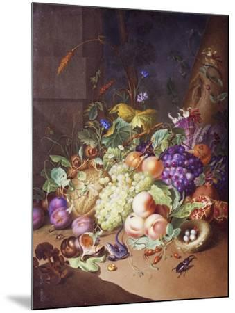 Plaque with Still Life--Mounted Giclee Print