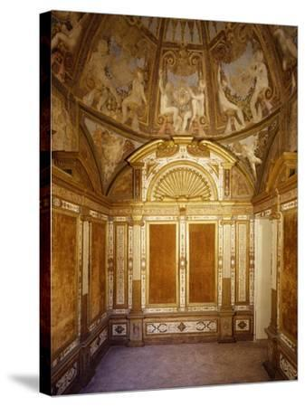 Interior View of Paleologa Room in Rocca--Stretched Canvas Print