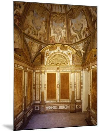 Interior View of Paleologa Room in Rocca--Mounted Giclee Print
