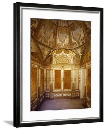 Interior View of Paleologa Room in Rocca--Framed Giclee Print