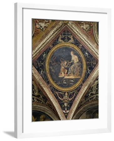 Jupiter, 1496-1507, Fresco by Pietro Vannucci known as Perugino--Framed Giclee Print
