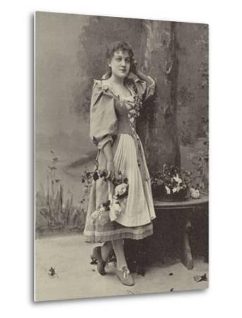 "Miss Dorothy Vane, in ""Haddon Hall""--Metal Print"