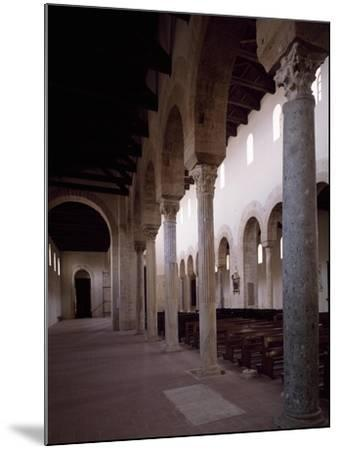 Interior of Co-Cathedral of Santa Maria Assunta, Gerace, Calabria, Italy, 11th-15th Century--Mounted Giclee Print