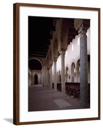 Interior of Co-Cathedral of Santa Maria Assunta, Gerace, Calabria, Italy, 11th-15th Century--Framed Giclee Print