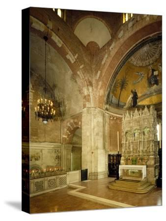 Inside and High Altar, St Peter in Golden Sky Church, Pavia, Italy, 8th-12th Century--Stretched Canvas Print