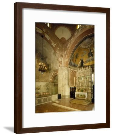 Inside and High Altar, St Peter in Golden Sky Church, Pavia, Italy, 8th-12th Century--Framed Giclee Print