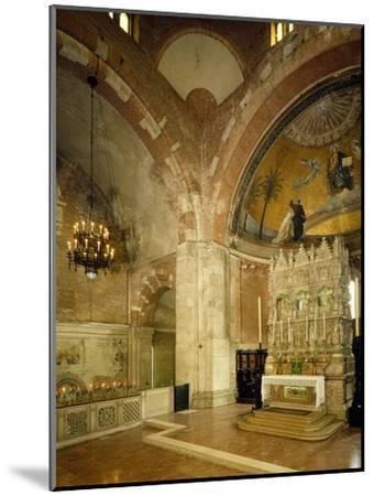Inside and High Altar, St Peter in Golden Sky Church, Pavia, Italy, 8th-12th Century--Mounted Giclee Print
