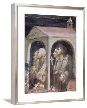 Plague, Detail from St Nicholas Receiving Cure for Possessed and Sick from Virgin, 1320-1325--Framed Giclee Print