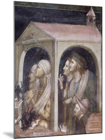 Plague, Detail from St Nicholas Receiving Cure for Possessed and Sick from Virgin, 1320-1325--Mounted Giclee Print