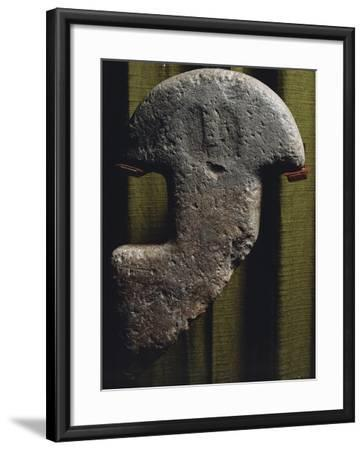 Anthropomorphic Statue-Stele Consisting of Head and Neck, from Val Di Magra in Lunigiana--Framed Giclee Print