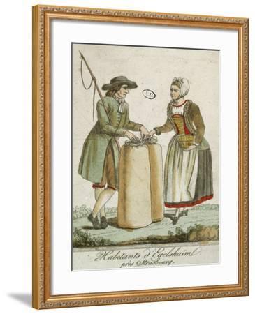 Alsatian Costumes: Dwellers of Egelshaim, Near Strasbourg--Framed Giclee Print