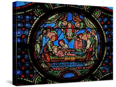 Window W0 Depicting the Death of the Virgin Mary--Stretched Canvas Print