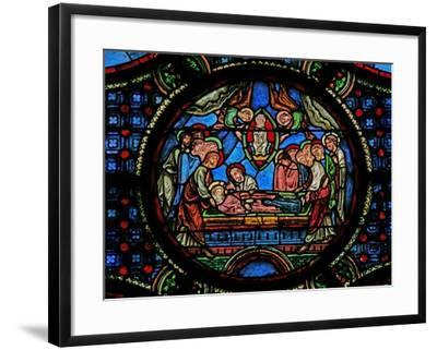 Window W0 Depicting the Death of the Virgin Mary--Framed Giclee Print