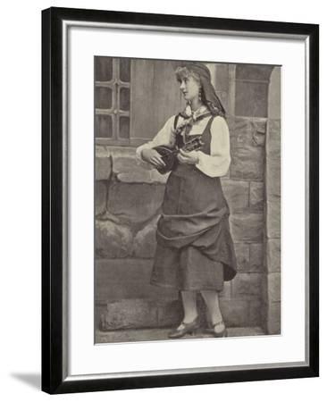 "Miss Florence St John, in ""Madame Favart""--Framed Photographic Print"