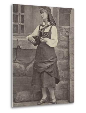 """Miss Florence St John, in """"Madame Favart""""--Metal Print"""