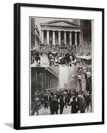Black Days on Wall Street; the Stock Exchange in London at the Time of the Crash in 1929--Framed Photographic Print