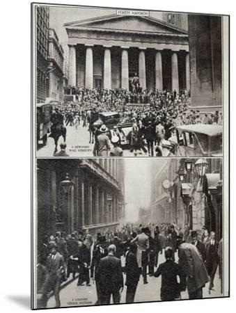 Black Days on Wall Street; the Stock Exchange in London at the Time of the Crash in 1929--Mounted Photographic Print