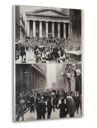 Black Days on Wall Street; the Stock Exchange in London at the Time of the Crash in 1929--Metal Print