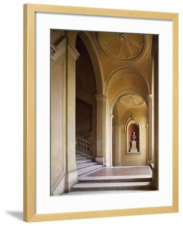 Detail from Staircase, Palazzo Corsini, Lungara, Rome, Italy--Framed Giclee Print