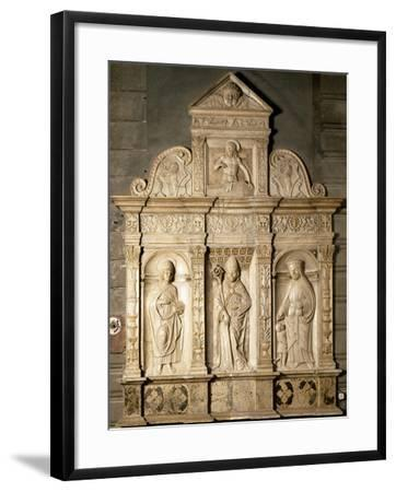Bas-Relief from Right Side of Altar of Cathedral of Santa Maria Assunta, Cremona, Italy--Framed Giclee Print