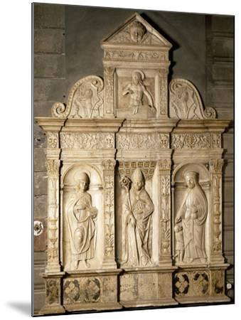 Bas-Relief from Right Side of Altar of Cathedral of Santa Maria Assunta, Cremona, Italy--Mounted Giclee Print