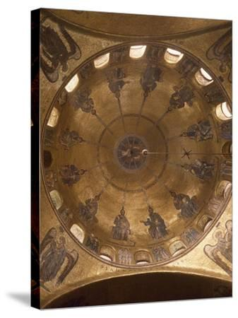 Dome of Pentecost, Mosaic in St. Mark's Basilica, Venice, Italy, 12th Century--Stretched Canvas Print